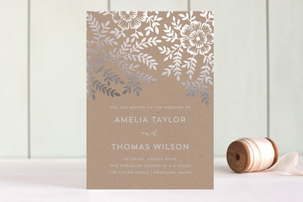 minted foil wedding invitations