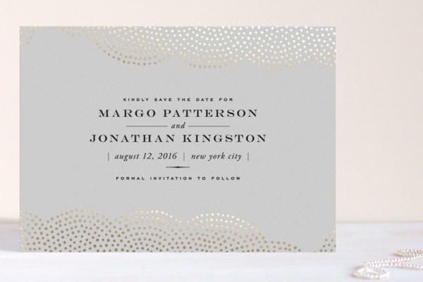minted foil wedding invitations