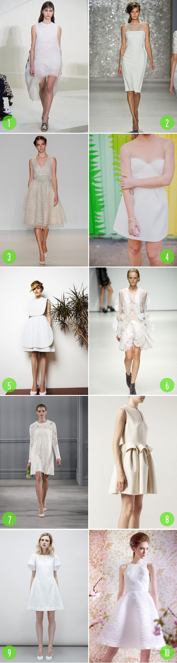 top 10: short wedding dress