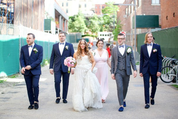 bridal party in brooklyn