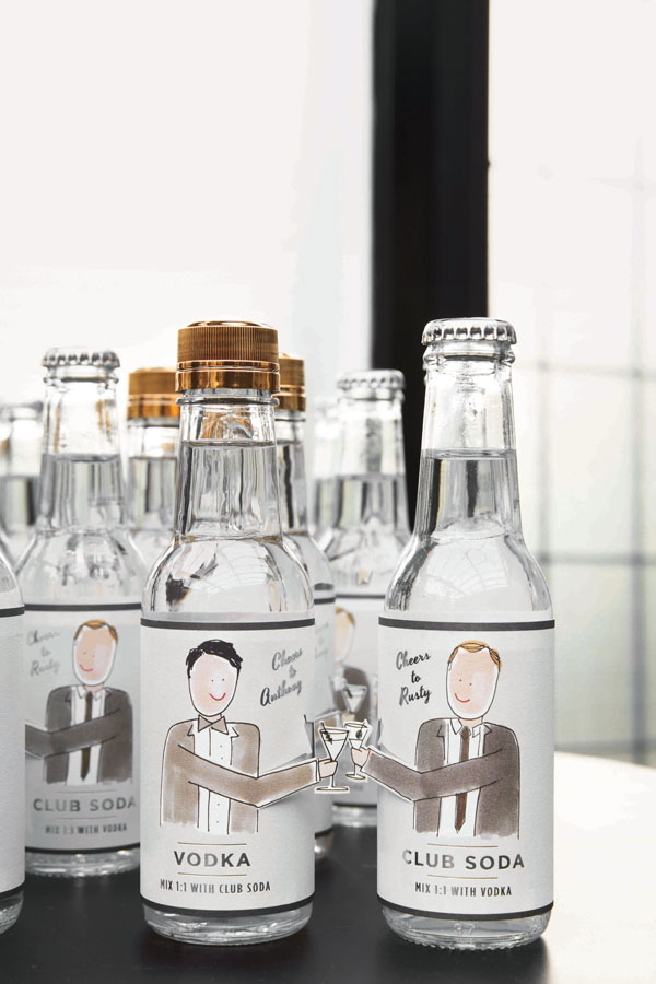 vodka-soda custom favors