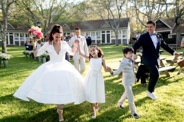 wedding with children