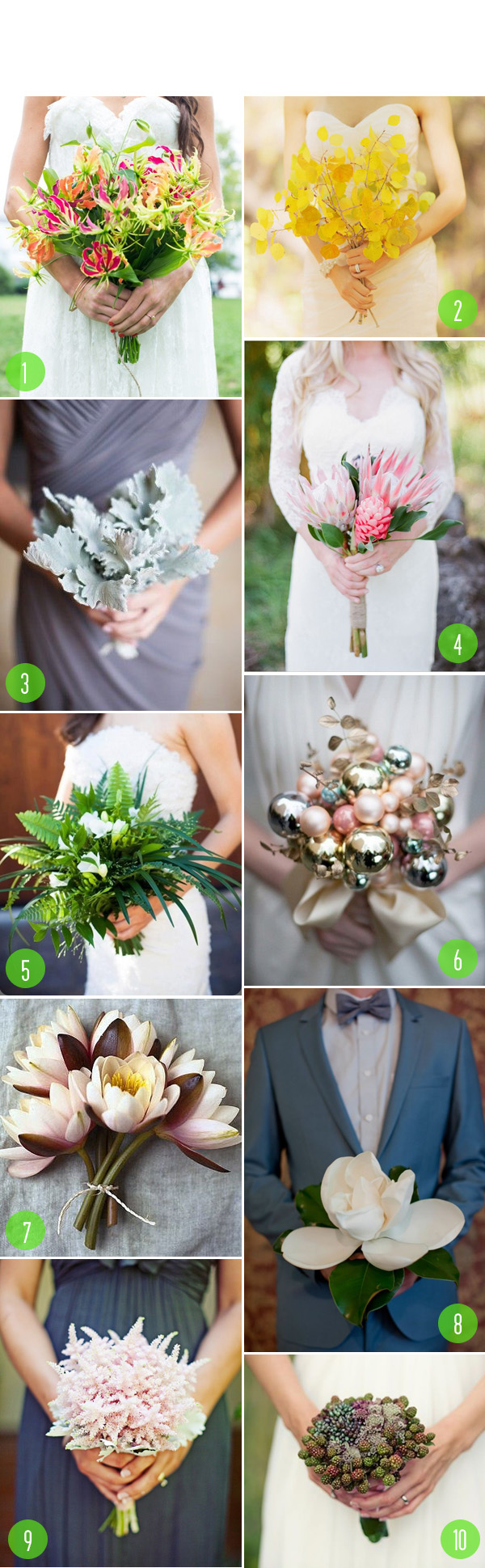 top 10: textural bouquets