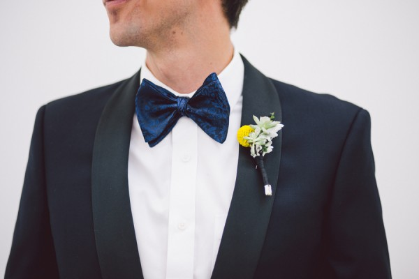 yellow & white boutonniere