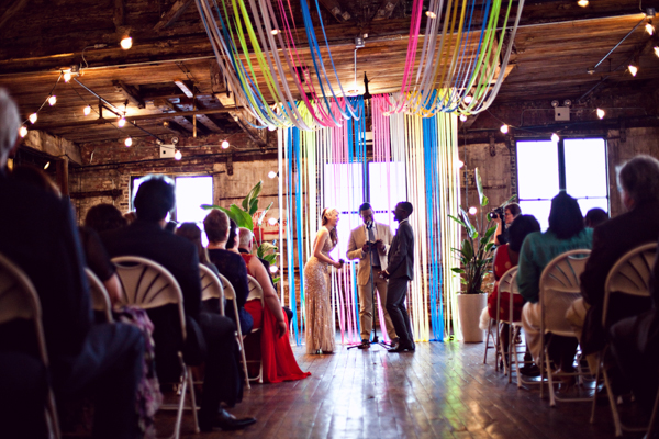rainbow streamer decor