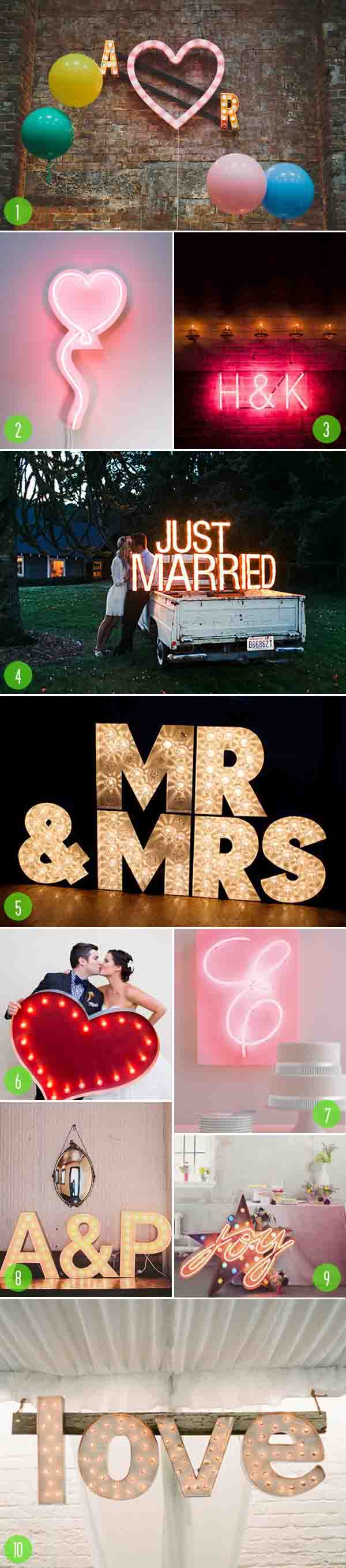 top 10: neon and marquee signs