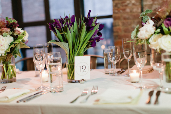 Admirable Purple Tulip Centerpieces Brooklyn Bride Modern Wedding Blog Download Free Architecture Designs Estepponolmadebymaigaardcom
