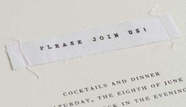 stitched invitation detail