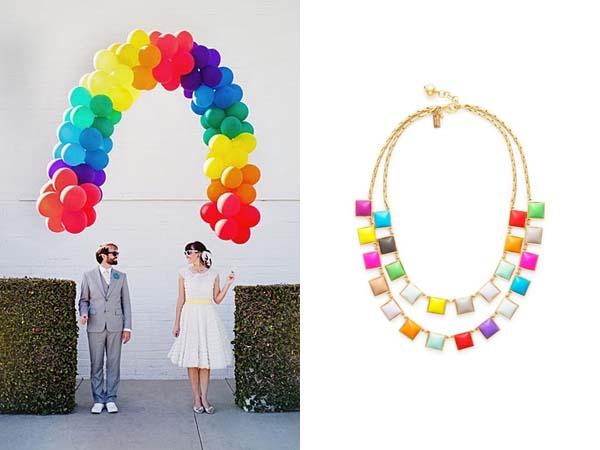 rainbow balloons & necklace