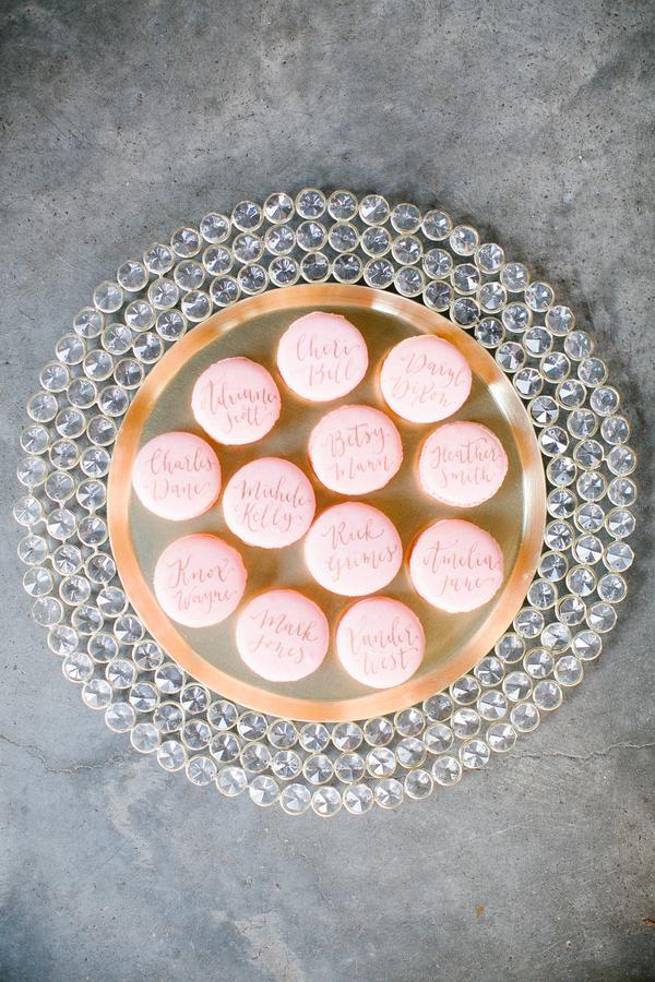 calligraphed macarons