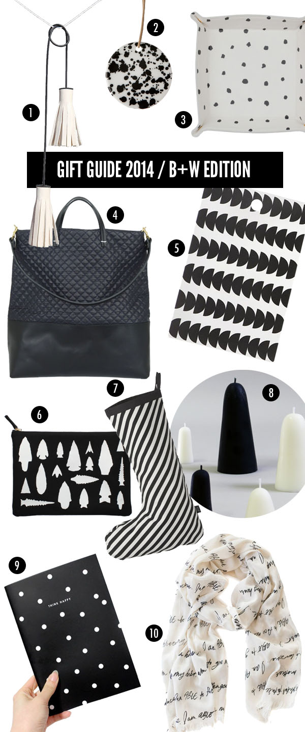 giftguide - black and white