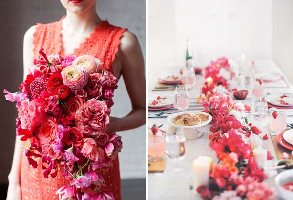 pink and red florals