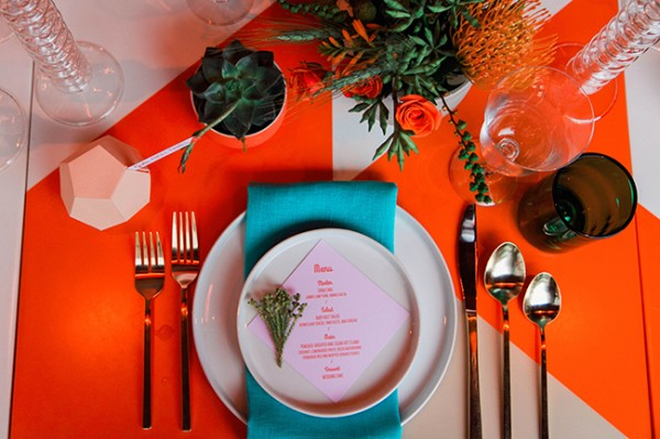 geometric table setting