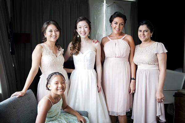 pastel pink bridesmaids