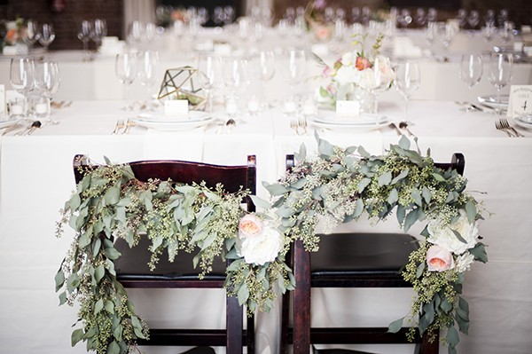 eucalyptus chair florals