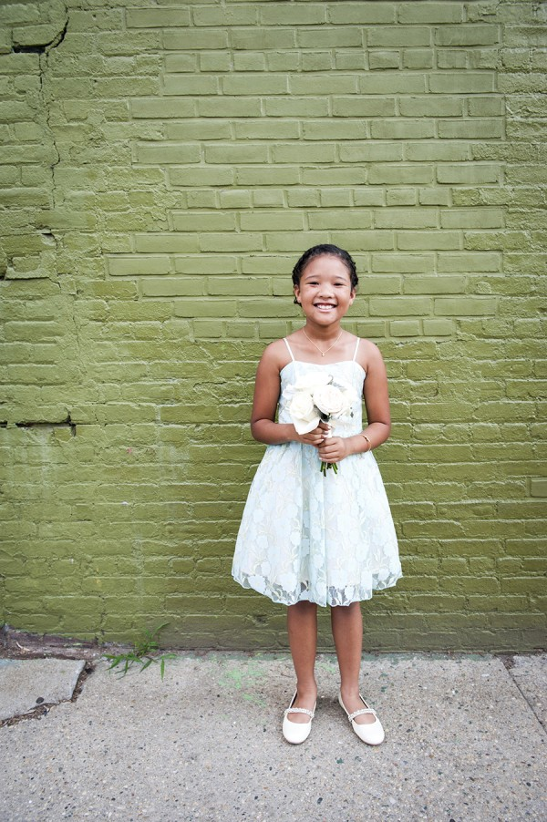 mint green flower girl
