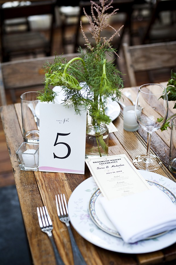 pink dipped table number