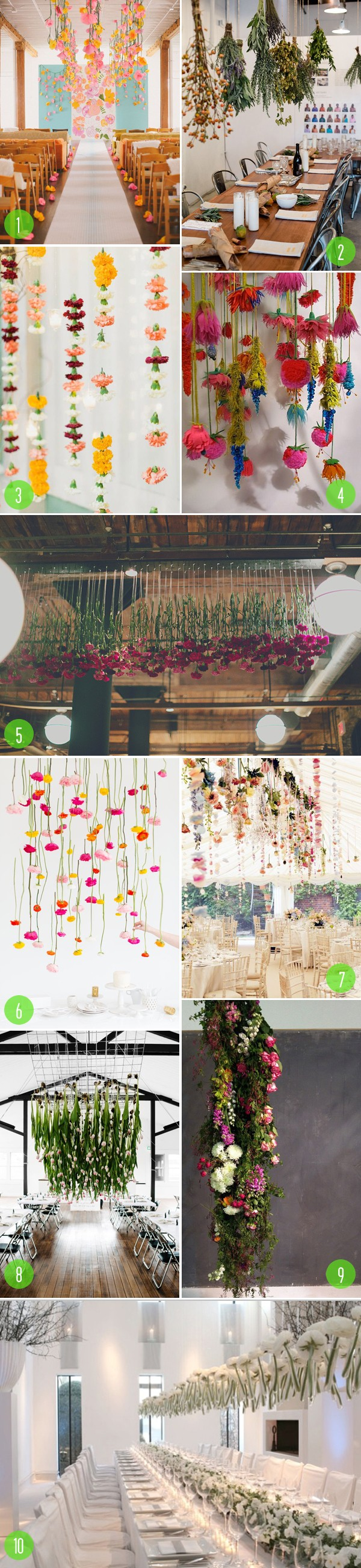top 10: hanging florals