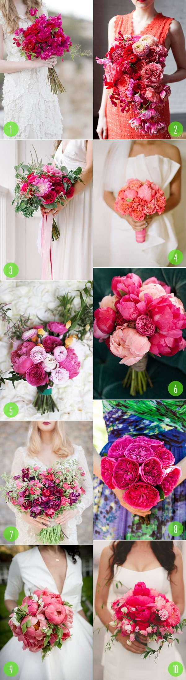 top 10: pink bouquets