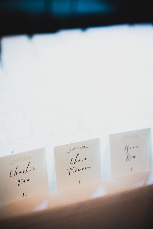 calligraphed escort cards