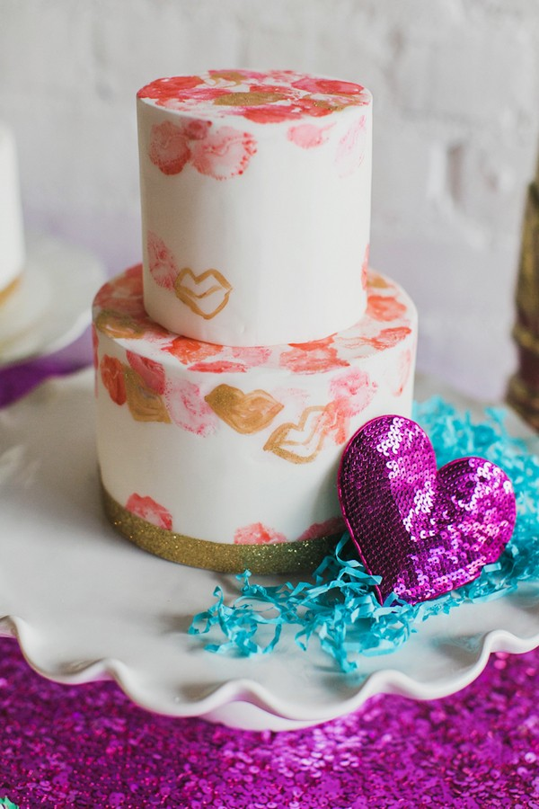 ban.do inspired wedding cake