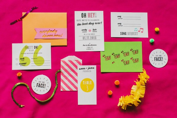 ban.do inspired wedding invitations