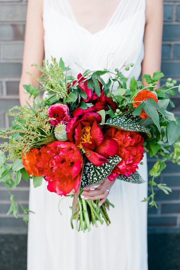 bold red bouquet