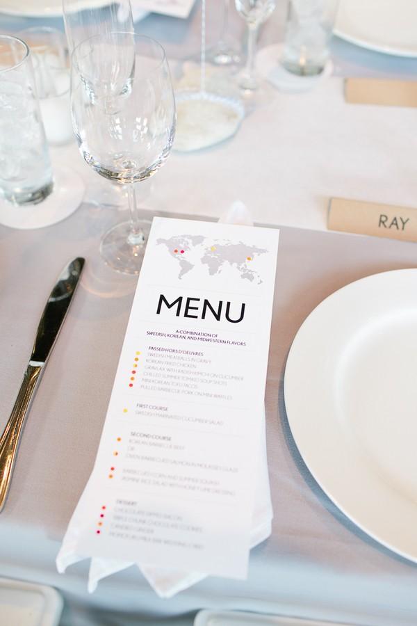 simple modern menu