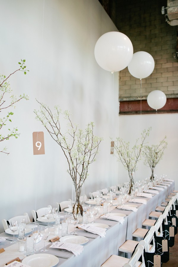 branch and balloon centerpieces