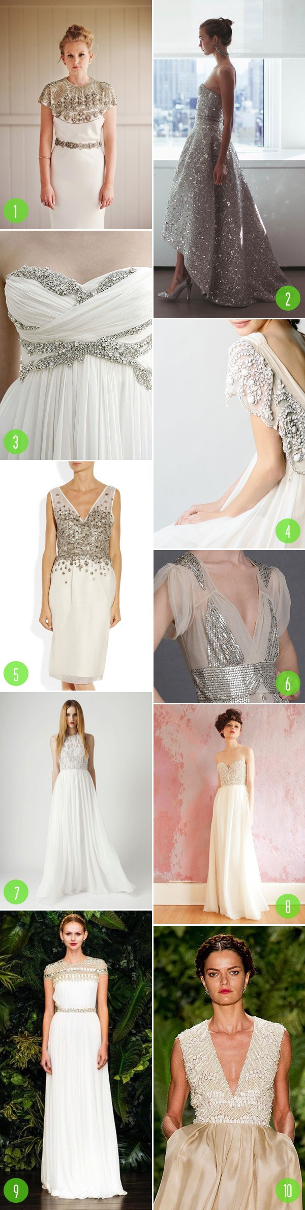 top 10: modern beaded dresses