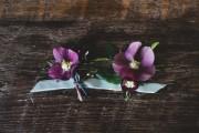 purple boutonnieres