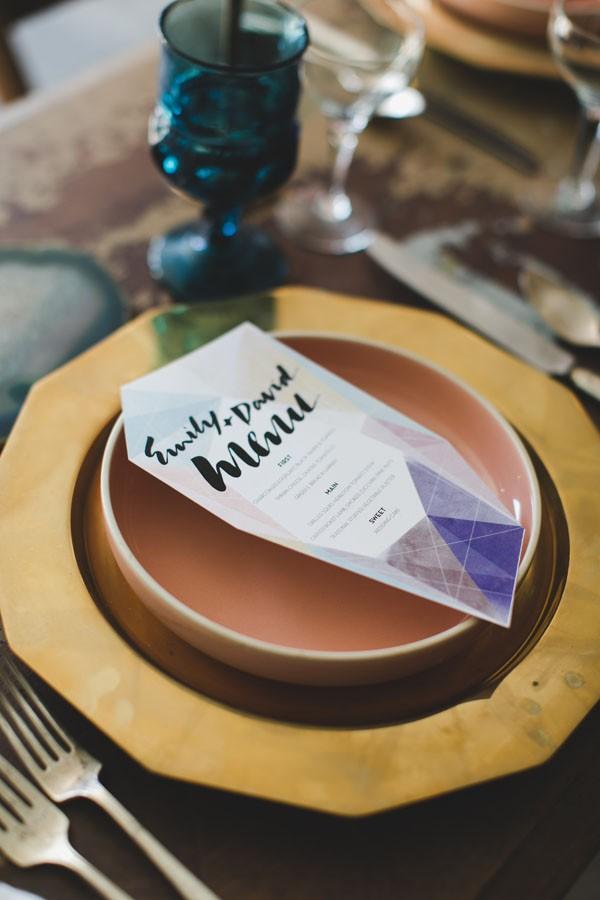 jewel toned menu