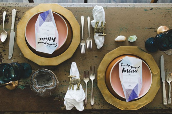jewel toned place settings