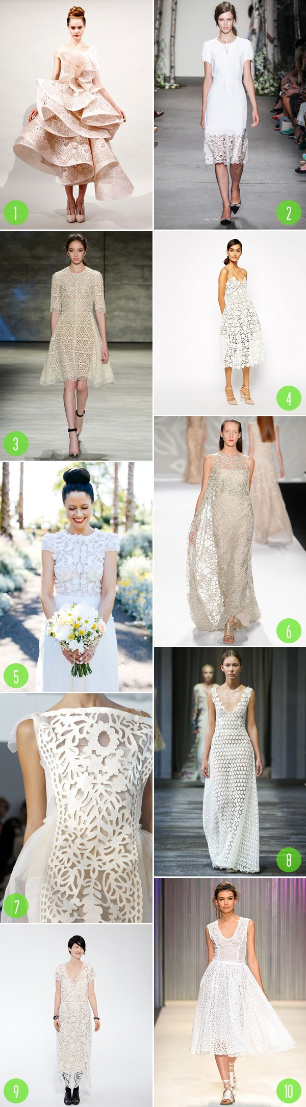 top 10: lacey dresses