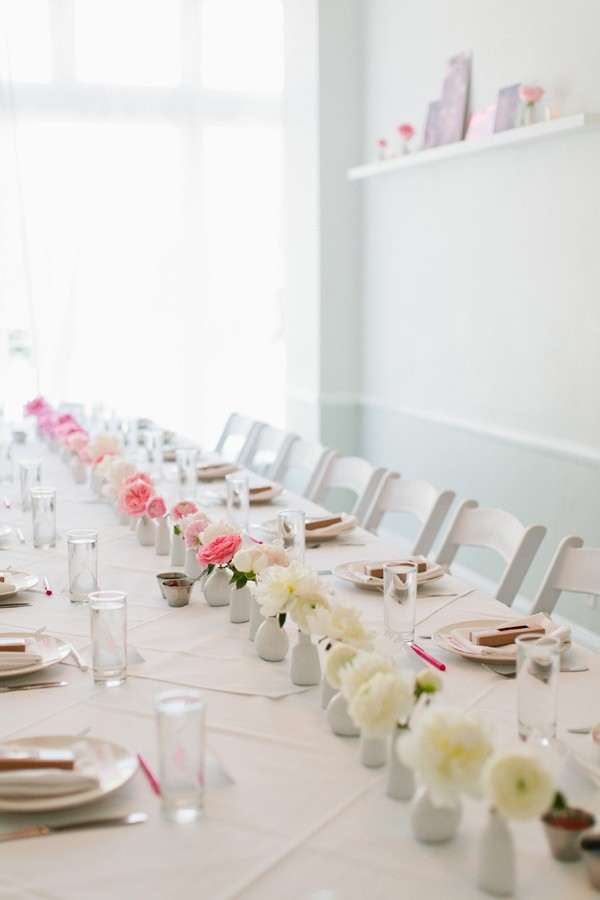 pink ombre centerpiece
