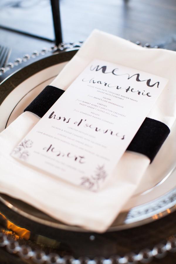 handwritten menu