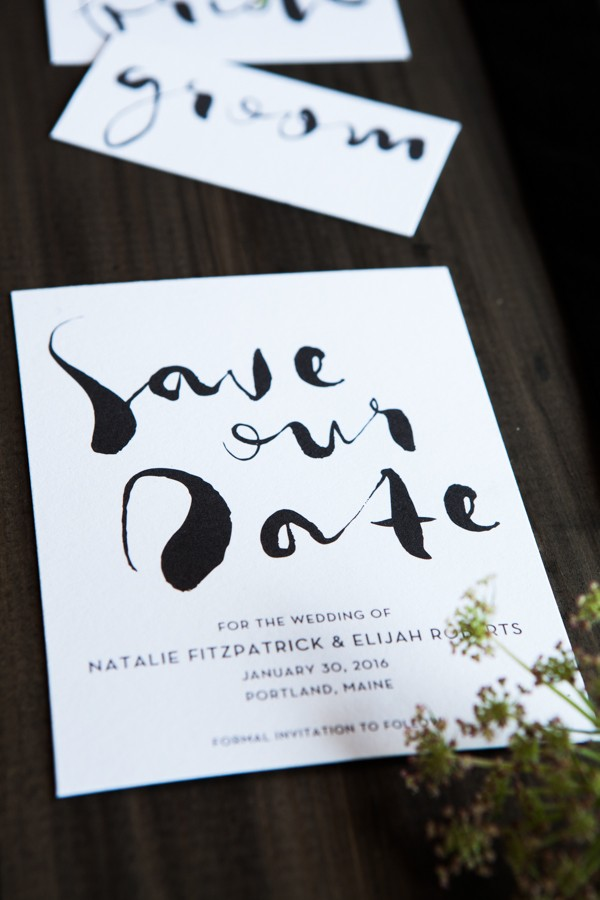 handwritten save the date