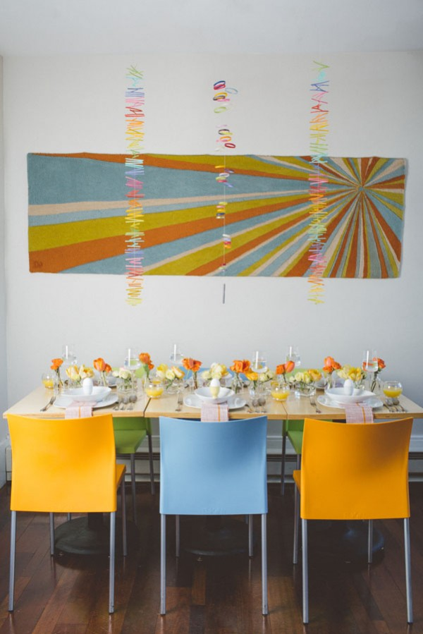 modern orange centerpieces