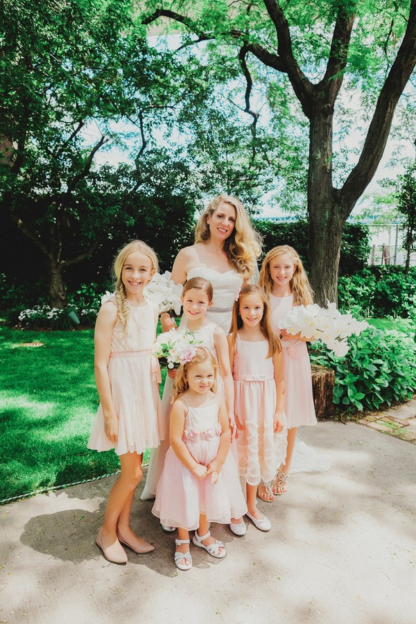 blush flower girls
