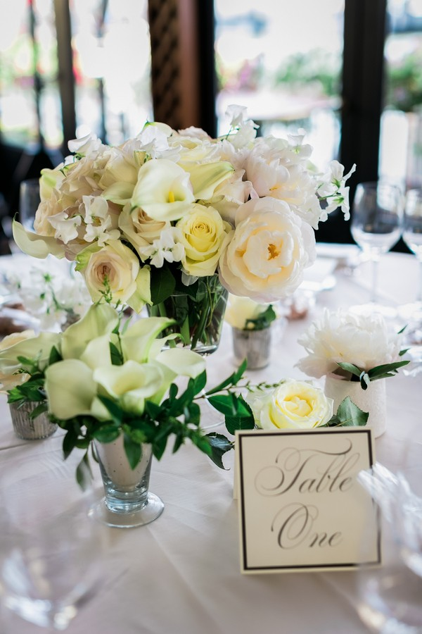 pale yellow centerpieces