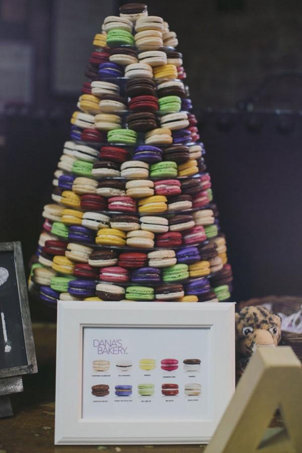 colorful macaron wedding tower