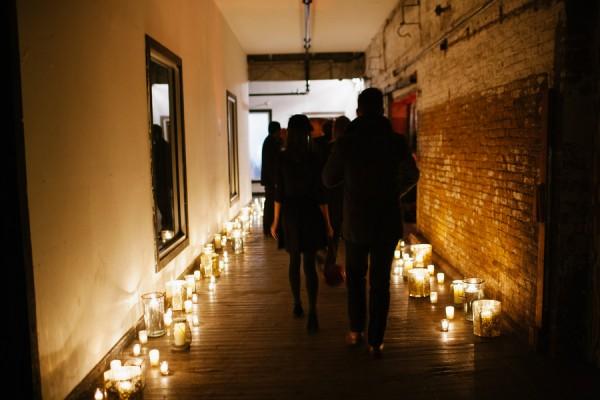 candlelit pathway