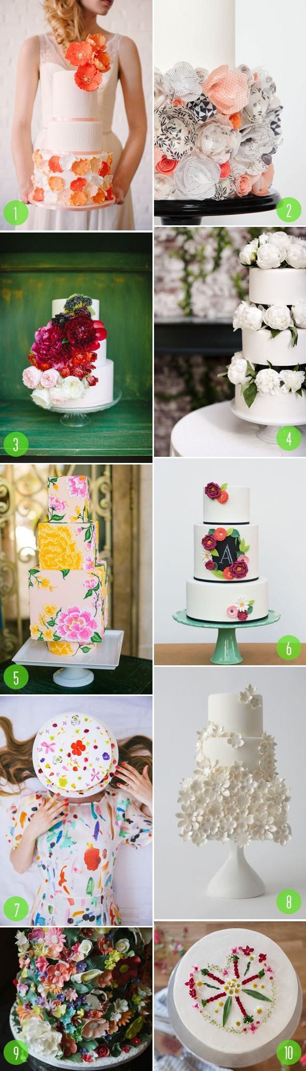 top 10: floral wedding cakes