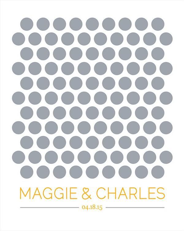 modern guestbook poster
