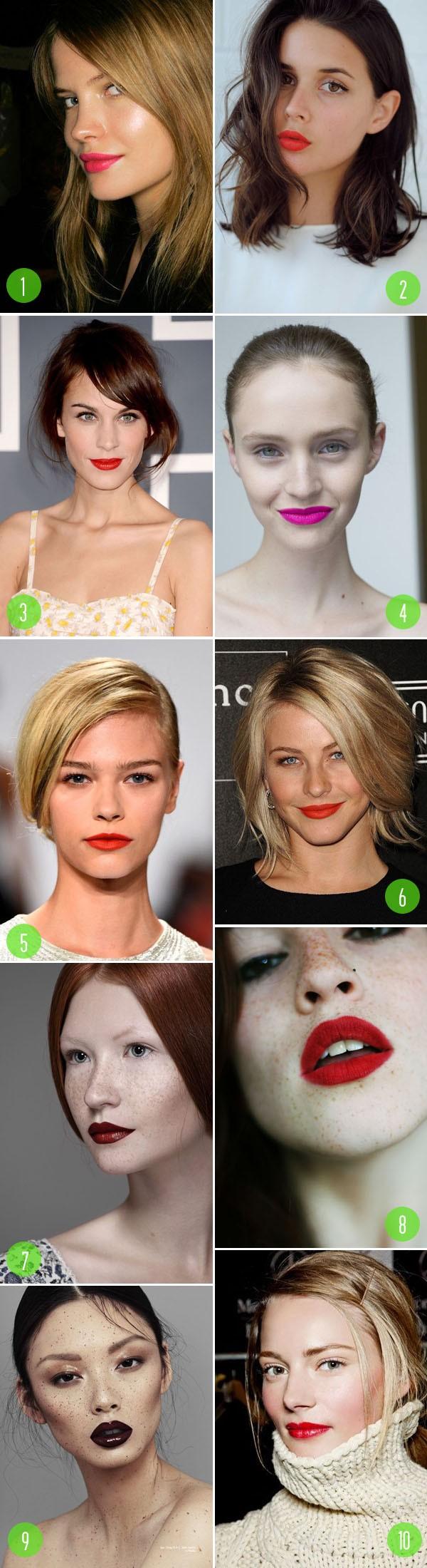top 10: bold lips