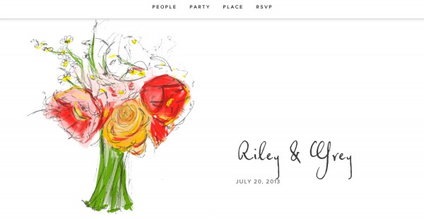 riley & grey wedding website