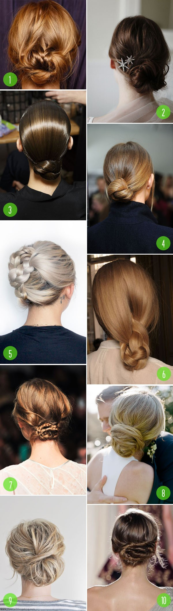 top 10: hair - chignons