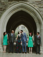 fall colored bridal party