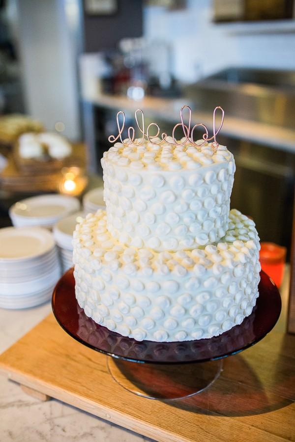 white polkadot cake