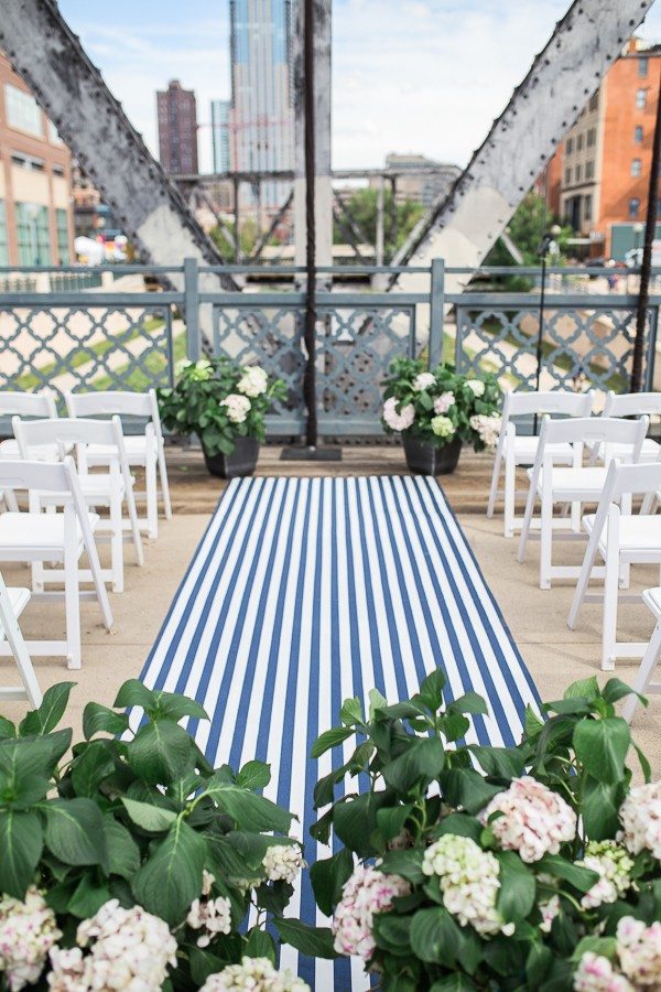 striped aisle runner